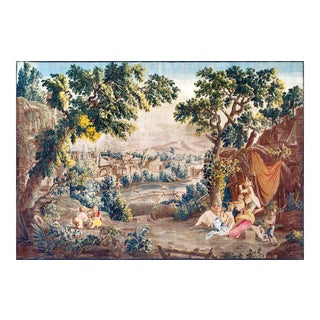 18th Century Antique Tapestry From Royal Manufacture of Aubusson - L'Oiseleur For Sale