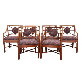 Bamboo Dining Chairs, S/6