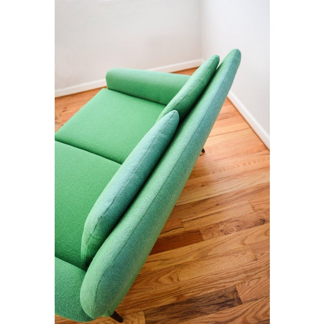 Mid-Century Folke Ohlsson Green Loveseat Sofa - Image 7 of 8