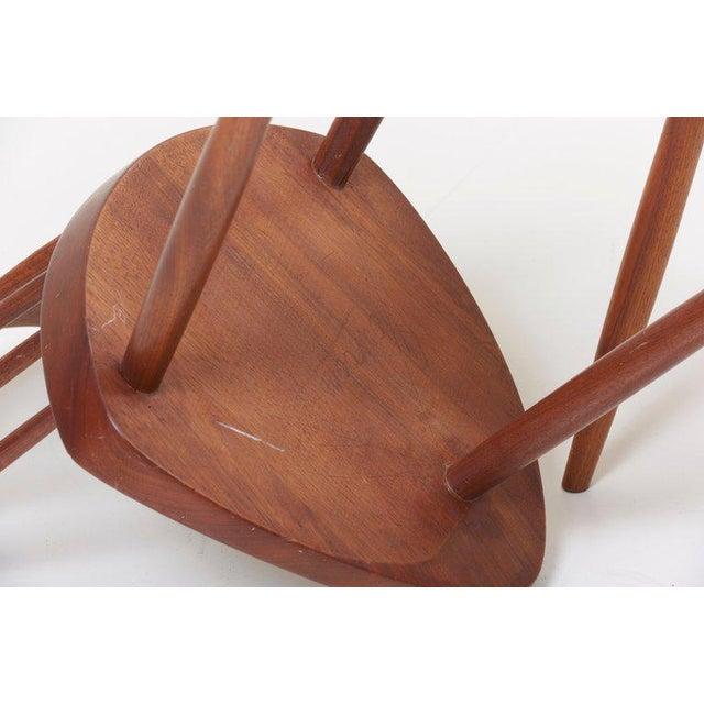 Brown Pair of George Nakashima Studio Mira Nakashima Mira Chair in Walnut For Sale - Image 8 of 10