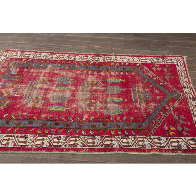 "Apadana Antique Turkish Geometric Rug - 3'1"" X 5'5"" - Image 2 of 7"