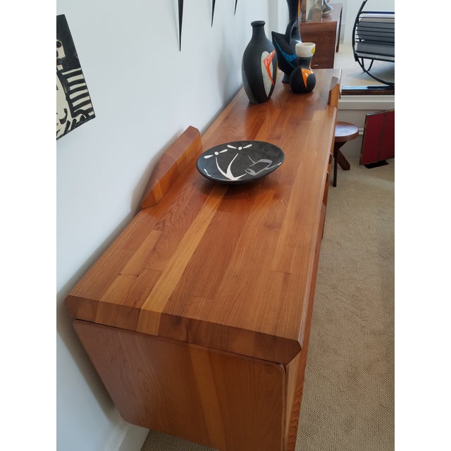 """Pierre Chapo """"R28"""" Elm Sideboard For Sale In San Francisco - Image 6 of 7"""