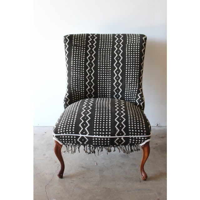 Vintage African Mudcloth Chairs - A Pair - Image 3 of 9