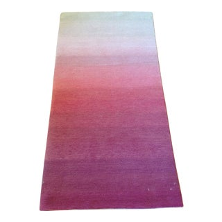 Ombre White Pink Rug - 2' X 4' For Sale