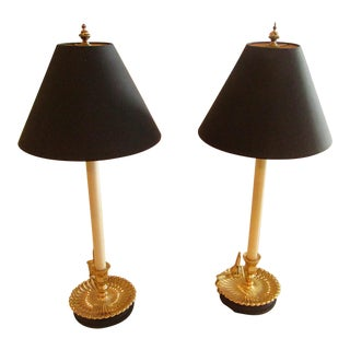 Frederick Cooper Brass Base Lamps - a Pair