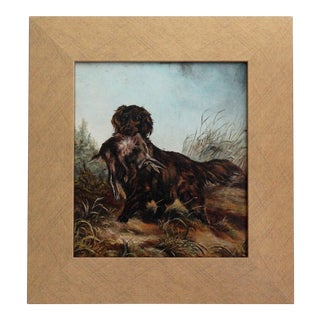Spaniel Sporting Dog Oil on Board Painting For Sale