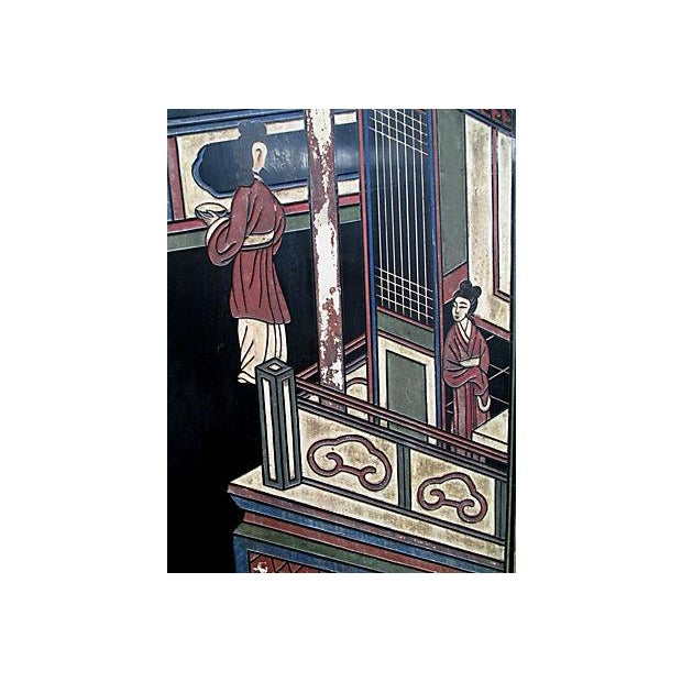 Japanese Carved Panels - Set of 4 - Image 4 of 6