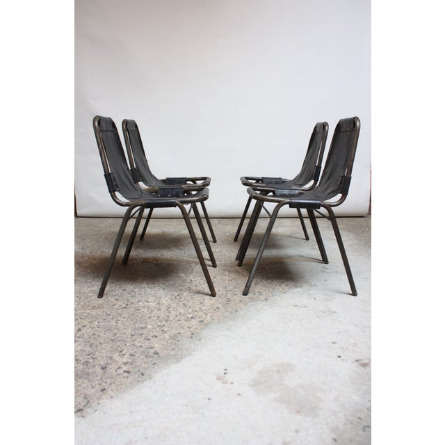 Early Set of Four 'Les Arcs' Chairs by Charlotte Perriand - Image 4 of 13