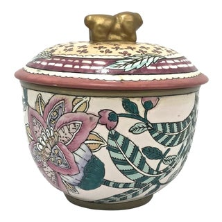 Asian Ceramic Covered Pot For Sale