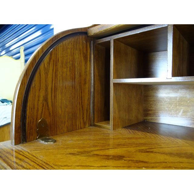 Lights Mid-Century Wooden Desk For Sale - Image 7 of 9