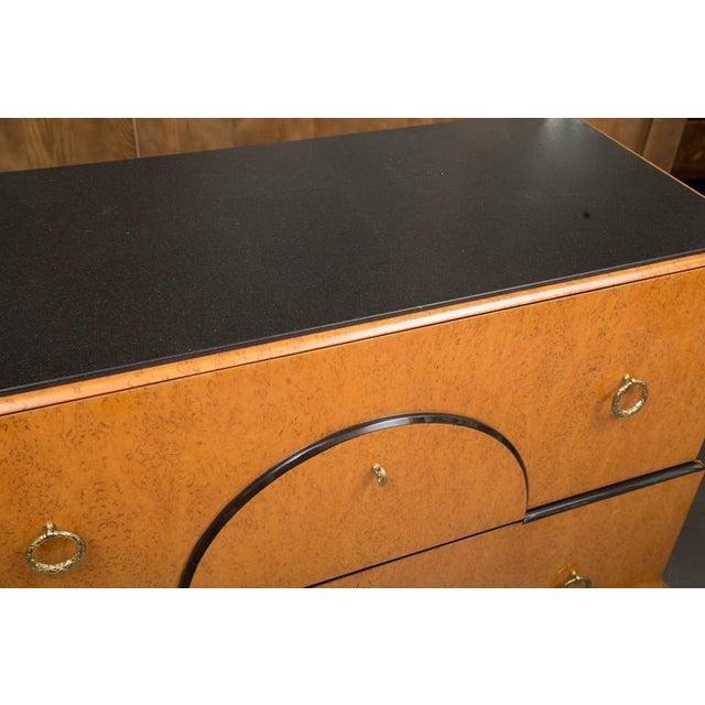 1970s Biedermeier Style Chest with Black Granite Top For Sale - Image 5 of 7