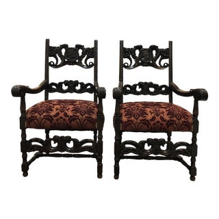 Pair of 19th Century Arm Chairs For Sale