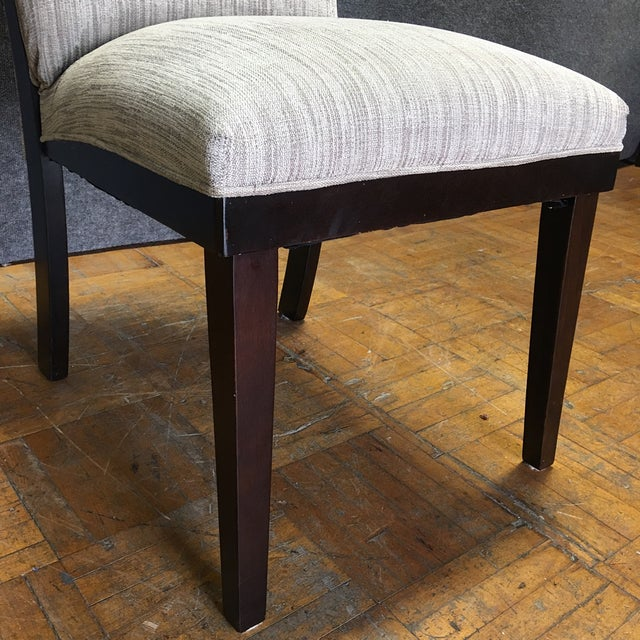 Modern Dining Chairs With Bench - Set of 5 - Image 7 of 11