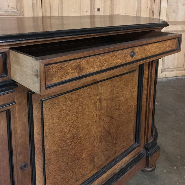 Brown 19th Century French Napoleon III Period Walnut Buffet For Sale - Image 8 of 13