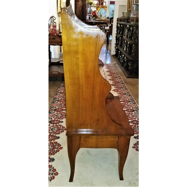18th Century French Country Cherrywood Side Table or Open Case For Sale - Image 9 of 11