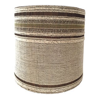 Vintage Mid-Century Maria Kipp Large Woven Lampshade For Sale