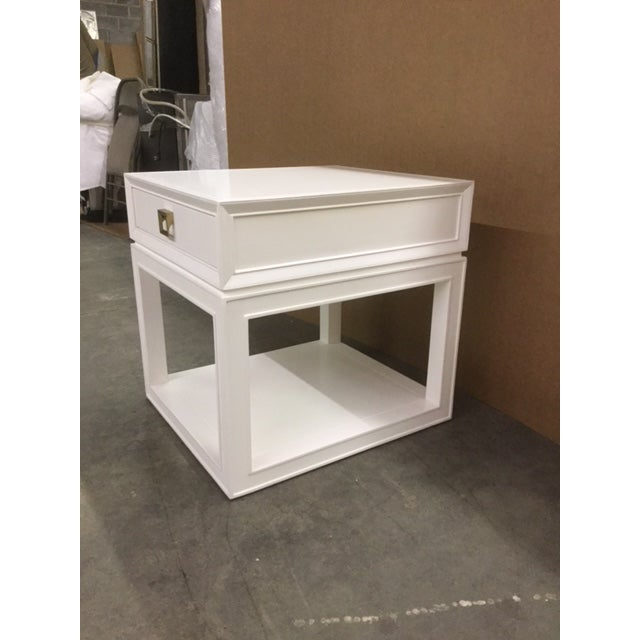 """Malibu Loft"" Single Drawer White Side Table For Sale In Greensboro - Image 6 of 6"