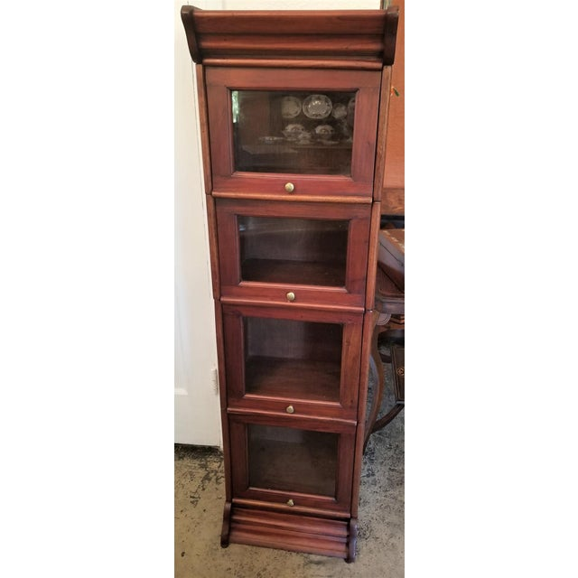 William IV Teak Barristers Bookcase of Neat Proportions For Sale In Dallas - Image 6 of 8