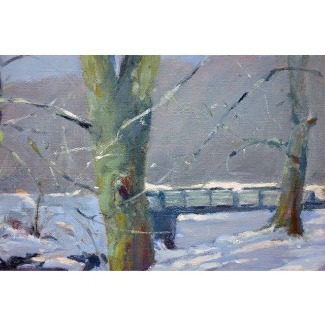 Bob Waltsak Winter Landscape Oil Painting - Image 3 of 4