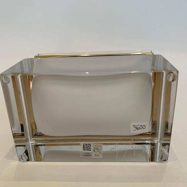 21st Century Murano White Crystal Jewel Box by Mandruzzato For Sale - Image 9 of 10