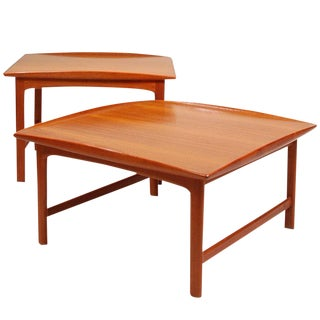Pair of Folke Ohlsson for Dux Teak Table Set For Sale