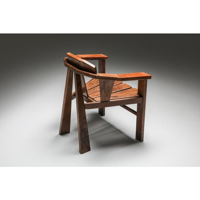 Walnut Craftsman Chair - 1960s For Sale - Image 11 of 13