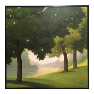 Realist Tree Painting by j.r. Newton For Sale