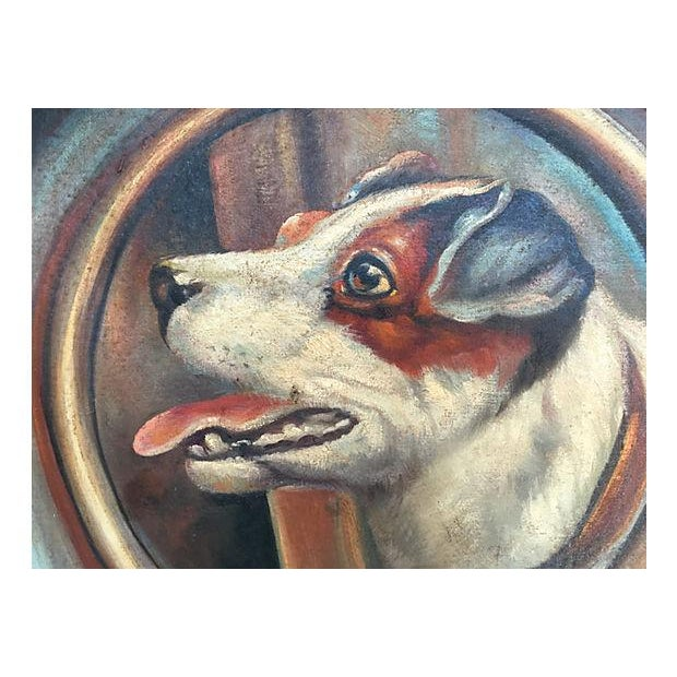 Jack Russell Portrait in Tramp Art Frame - Image 3 of 7