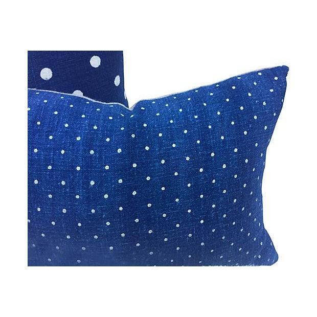 French Indigo Grain Sack Pillows- Set of 3 - Image 2 of 5