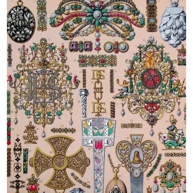 1888 Jewelry of 17th C. France Lithograph - Image 4 of 6