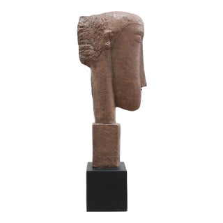 Modernist Cast Modigliani Bust- Tate Museum For Sale