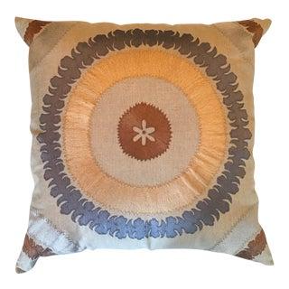 Bliss Studio Ohara Suzani Linen Toss Pillow For Sale