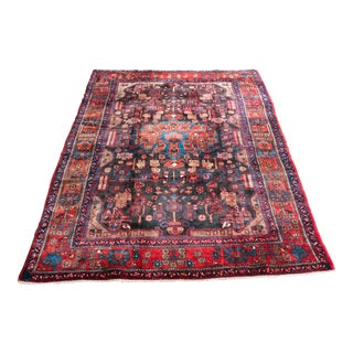 """Vintage Persian Navahand Area Rug - 5'3""""x9'1"""" For Sale"""