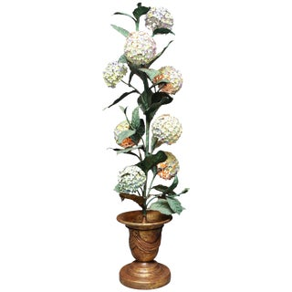 Midcentury Hydrangea Floor Lamp For Sale