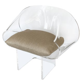 1970s Robert Van Horn Lucite Ribbon Lounge Chair, Signed For Sale