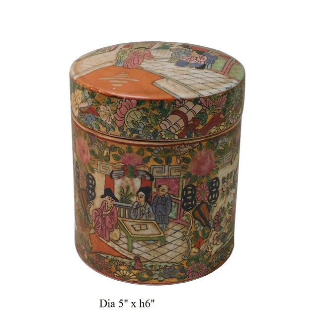 Chinese Oriental Porcelain Container For Sale In San Francisco - Image 6 of 6