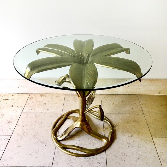 Mid-Century Modern An Arthur Court Gilded Centre Table With Glass Top 1960s For Sale - Image 3 of 6