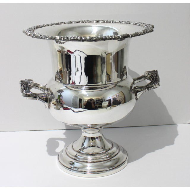 English Vintage Sheridan Champagne Ic Bucket Silver Plate For Sale - Image 3 of 12