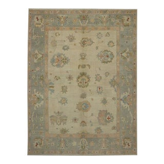 Contemporary Turkish Oushak Rug - 12′4″ × 16′5″ For Sale