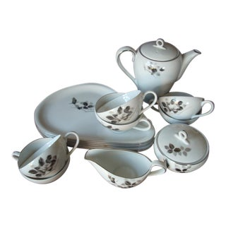 Mid-Century Luncheon Set For Sale