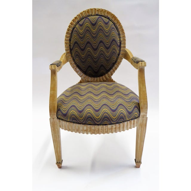 Modern Adaption of Louis XIV Roi Soleil Bergere Armchair , C. 1980s For Sale In Miami - Image 6 of 12