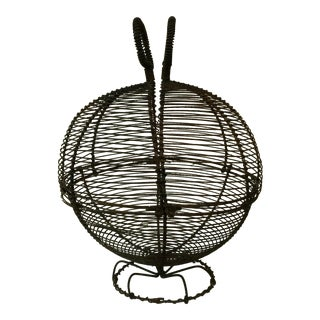 French Wire Salad or Eggs Basket 1940 For Sale