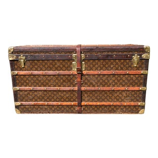 1930s French Louis Vuitton Monogram Steamer Trunk For Sale