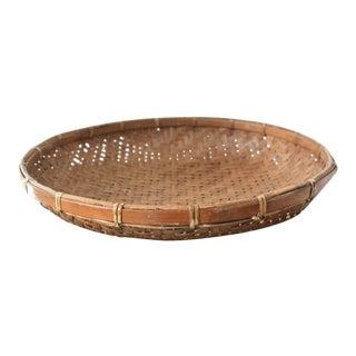 Vintage Woven Winnowing Basket