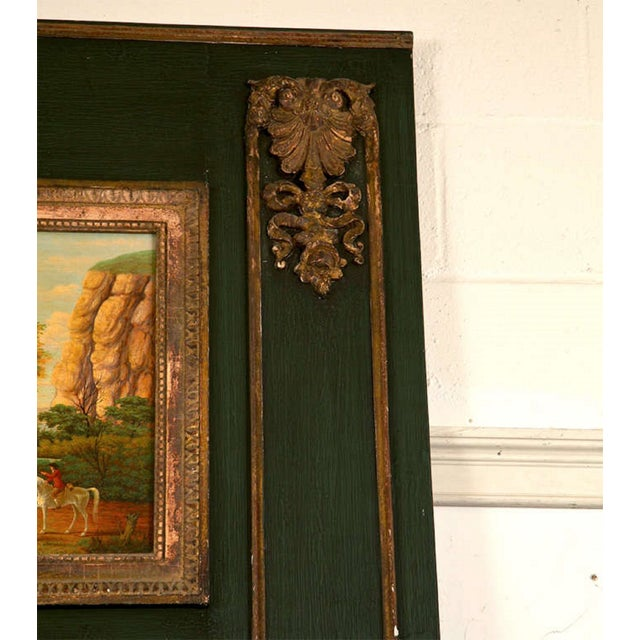 French Painted Trumeau Mirror - Image 3 of 8
