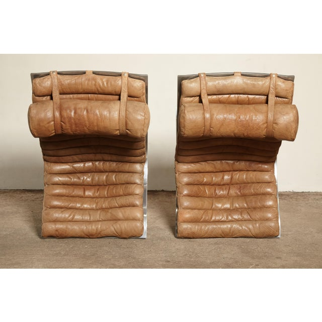 Silver Pair of Arne Norell Ari Chairs, Norell Mobler, Sweden, 1970s For Sale - Image 8 of 13