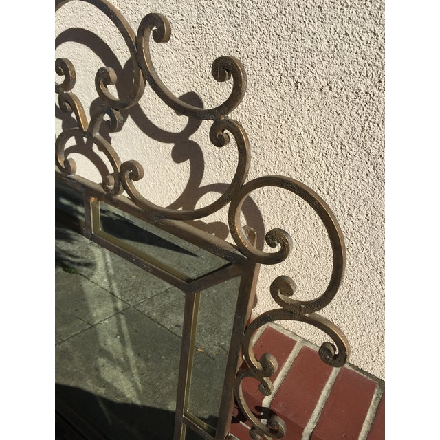 Mediterranean Kreiss Mirror Malaga Wrought Iron For Sale - Image 3 of 5
