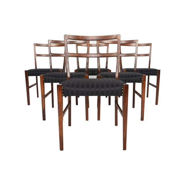 Harry Østergaar Rosewood Dining Chairs - Set of 6 - Image 8 of 10