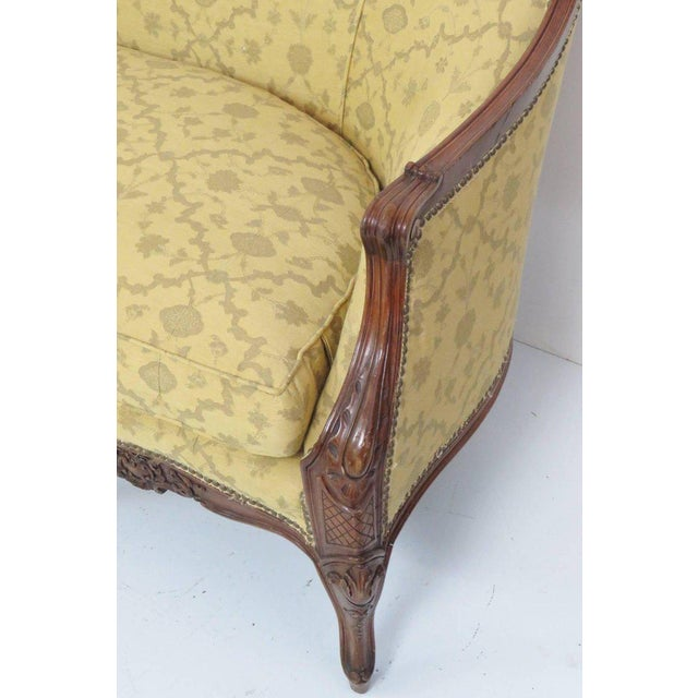 Louis XV Style Carved Walnut Sofa For Sale - Image 4 of 8