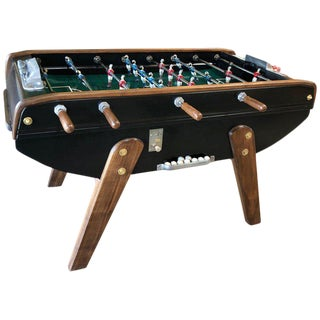 Mid-Century French Walnut Foosball Table For Sale